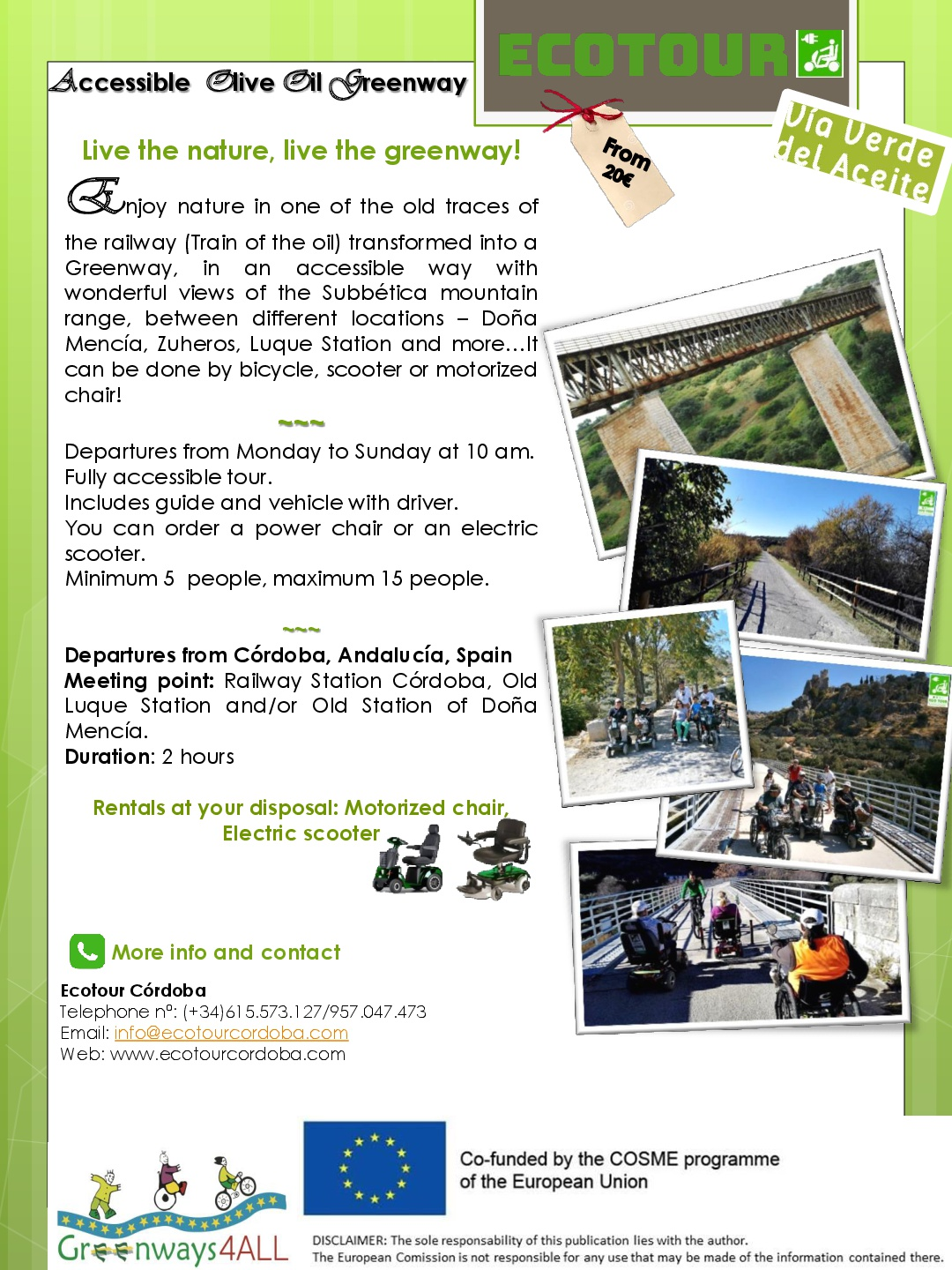 ACCESSIBLE OLIVE OIL GREENWAY